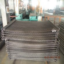 矿筛轧花网型号 白钢轧花网规格 钢丝网编织网
