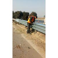 高速公路三波护栏板 三波加强镀锌喷塑波形板 方形立柱 三波防阻块