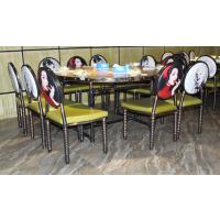 电磁炉火锅复古工业风主题餐厅火锅店烧烤桌子烤涮一体桌椅组合