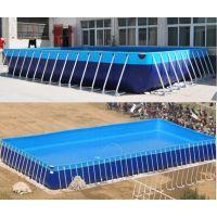 小型充气游泳池玩具 广场水池配滑梯的玩水设备哪买 支架游泳池水乐园移动设备