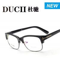ducii杜驰自主品牌8290金属半框架tr90眼镜架超轻近视镜架框架镜