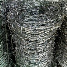 拧编刺丝铁线 草场铁蒺藜 铁路护栏刺网