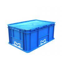 上海通用汽车塑料物流箱 欧标对翻盖 600*400*280mm PP料