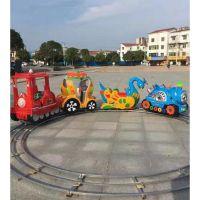 拼接四座五座道轨小火车 玩具乐园里的小火车怎么卖 游乐收费小火车设备厂家