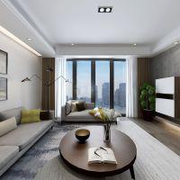 渝北公园大道洋房装修 E8户型现代简约风格设计方案