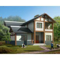 抚州别墅设计AT1770二层川西中式风格带车库民族特色小别墅设计图纸14.1mX15.9m