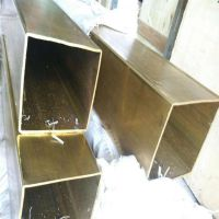 t2紫铜方管 40*40装饰铜方管 国标C1100方形铜管