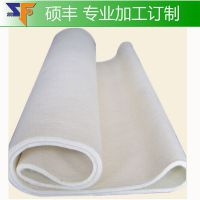 无缝毛毡带 卷状白色耐高温 热转印机呢毯热转印机毛毡厂家