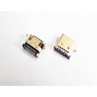 斜口TYPE-C母座 USB 3.1 沉板0.8 四脚插板SMT母头 双排贴片 插座-3