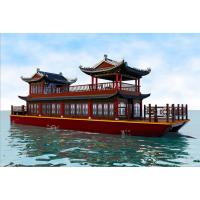厂家直销 大型豪华餐饮画舫船 旅游观光船 仿古木船  双层景点船