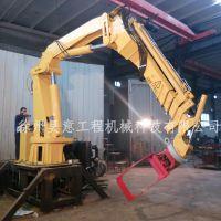 抓木起重机 3-12吨液压折臂吊 抓具吊多少钱