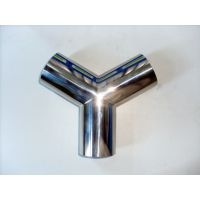 天沃304不锈钢三通管件 卫生级内外镜面抛光等径焊接三通 厂家直销
