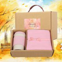 日用环保小麦秸秆套装 杯子毛巾套装定制LOGO 实用礼品毛巾
