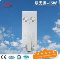 深圳工厂批发小功率一体化太阳能庭院灯15W高亮COB光源LED路灯