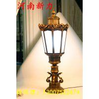 厂家直销不锈钢庭院灯LED柱头灯围墙灯别墅大门柱子灯 河南新力