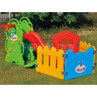塑料玩具太阳球池滑梯组合FY23307