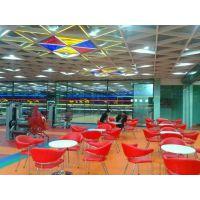 广州德普龙粉末静电喷涂铝格栅天花吊顶系统厂家销售
