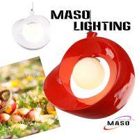 玛斯欧苹果形状咖啡厅店装修照明吊灯MS-P1033树脂简约家庭LED灯4w暖光红白黑可选