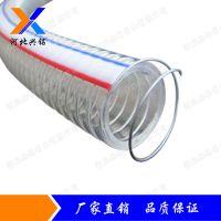 河北兴铭供应优质PVC钢丝增强软管 PVC透明软管10-250m