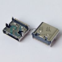 USB TYPE-C 16P贴片母座 16PIN单排贴片 SMT式 四脚固定插板