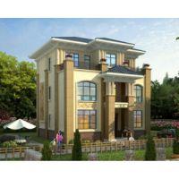 上饶别墅设计AT1745简欧风格三层带露台别墅设计施工图纸11mx12.2m