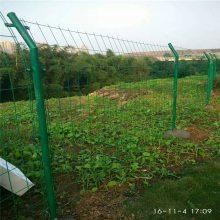 果园绿色铁丝围栏 公路施工防护网 衡阳双边丝护栏网规格