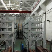 厦门伸缩式钢材货架 长轴类存储架 悬臂式货架价格 机械化存取钢管