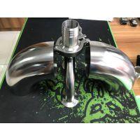 龙塘304卫生级不锈钢弯头规格表 φ38*1.5