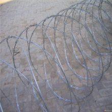 电镀锌刺丝围栏 刀片钢丝网 监狱防护刺绳