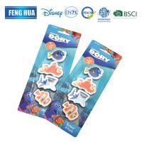 四款海洋动物造型3D卡通可爱迷你橡皮擦 背面可带logo印刷橡皮擦