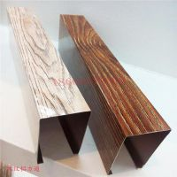 转印木纹铝方通环保实用通风透气 广东方通厂家规格齐全