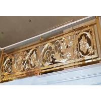 中式古典纯铜雕刻镂空楼梯护栏