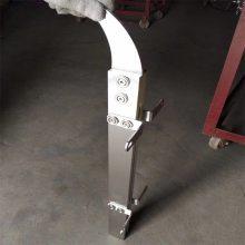 金裕 政府大楼不锈钢玻璃栏杆 楼道 走廊玻璃防护立柱BE85 厂家供应
