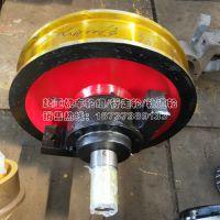 双梁大车主动车轮组 φ700*170 槽120 桥式起重机双边轮 河南锻造车轮厂 亚重