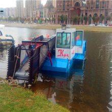 四川水上收割芦苇船 液压收割水草船厂家