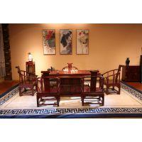 东阳和谐红木家具厂 供应红酸枝/巴里黄檀 荷塘映月中式功夫茶桌