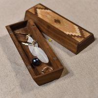 匠木家居复古首饰盒桌面饰品收纳盒手工实木储物盒生日礼物包邮