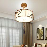 新中式吊灯圆形餐厅灯简约现代LED创意个性卧室书房铁艺灯具批发