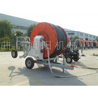 厂家直销自动卷管浇地机自走式小麦喷灌机300米农田灌溉机