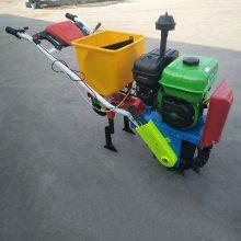 汽油施肥播种机 新型玉米花生精播机 手推式汽油播种机