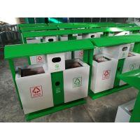 四川地区垃圾桶定制工厂 室外分类果皮箱 物美价廉 分色钢板果皮桶