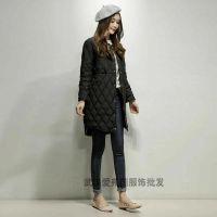 品牌折扣女装店货源杭州品牌多琳娜18新款折扣羽绒服货源