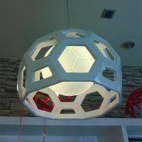 玛斯欧热销现代简约餐厅吊灯艺术足球造型树脂材质MS-P1037LED灯泡光源