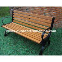 上海迪斯尼乐园欧式公园椅 铸铝脚园林椅 实木休闲椅