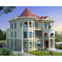 景德镇别墅设计AT1760三层漂亮简欧别墅全套建筑图纸16.5mX15.4m
