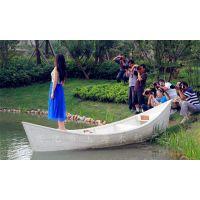 玉海木船YH-OS-015 厂家直销欧式手划船 白色雄鸡 景观装饰船 婚纱写真拍摄船 旅游观光船