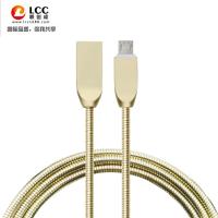 联创成锌合金数据线 安卓手机充电线 金属线