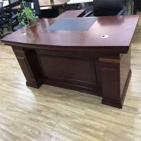 厂直销1.6米中班台油漆老板桌批发贴贴实木皮办公桌经理中式电脑桌办公家具