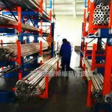 广西悬臂式货架介绍 伸缩式管材货架 ZY050706 给水管存放仓库