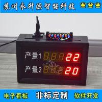 苏州永升源定制无线遥控数码管车间看板 光电感应计数器 实际产量生产管理看板 多路4-20mA信号输入